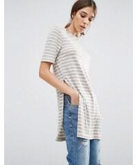 Glamorous - T-Shirt-Kleid - Grau