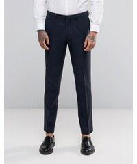 ASOS - Pantalon de costume slim à chevrons - Bleu marine - Bleu marine