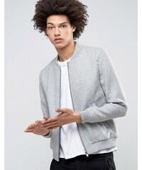 Selected Homme - Bomberjacke aus Wolle - Grau