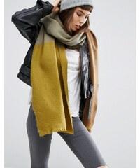 ASOS - Longue écharpe tissée ultra douce en color block - Vert