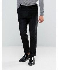 ASOS Slim Suit Trousers in Black Cord - Noir
