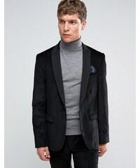 ASOS Slim Suit Jacket in Black Cord - Noir