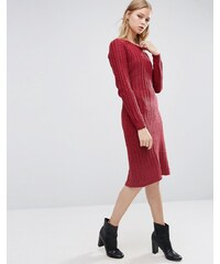 Love & Other Things - Robe en maille à manches longues - Rouge