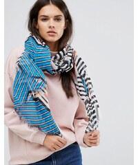 Alice Hannah - Chevron - Schal mit verschiedenen Streifen - Mehrfarbig