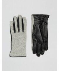 Vila - Handschuhe aus Wollmischung - Grau