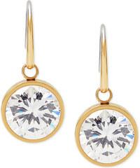 Náušnice Michael Kors round crystal gold MKJ5507040