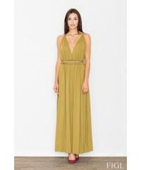 FIGL Dámské šaty M483 olive