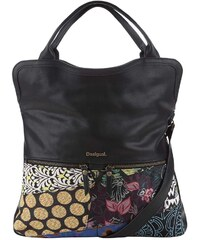 Černá kabelka s barevnými vzory Desigual Cordoba Hong Kong Patch