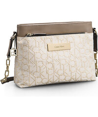 Calvin Klein crossbody kabelka jacquard lurex stone beige