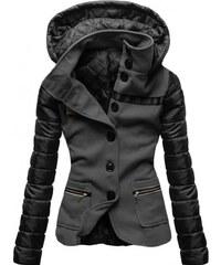 Dámský kabát Alecta grafitová - Grafitová