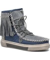 Karma of Charme - Ymiz M frange - Stiefeletten & Boots für Damen / blau