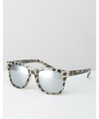 Cheap Monday - Lunettes de soleil à monture écaille droite avec verres miroir - Marron