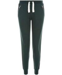 New Look Teenager – Dunkelgrüne Jogginghose mit seitlich aufgenähten Streifen
