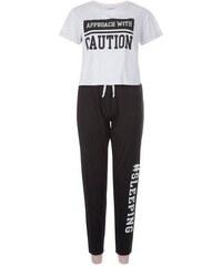 New Look Teenager – Schlafanzugoberteil und Schlafanzughose in Hellgrau