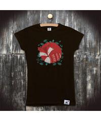 PANDEMIC Dámské tričko s potiskem Liška: Spící liška
