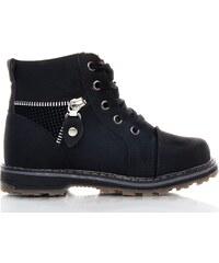 C.C.P. Černé dětské zimní boty 9909C.B