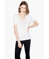THE KOOPLES T-shirt à encolure ornée de chaînes et de médaillons