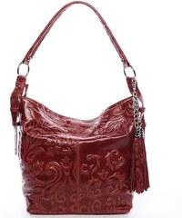 Delami Vera Pelle Stylová dámská kabelka Anjali, červená