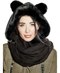 Guess šála Faux-Fur Hooded
