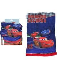 E plus M Chlapecký nákrčník Cars s červeným fleecem - modrý