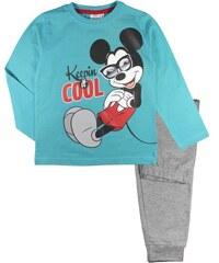 E plus M Chlapecké pyžamo Mickey - modro-šedé