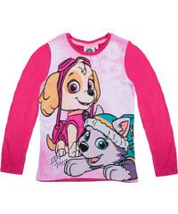 Paw Patrol Langarmshirt pink in Größe 98 für Mädchen aus 100% Baumwolle