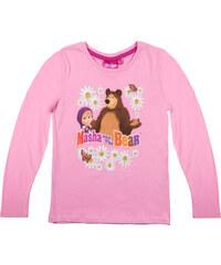 Mascha und der Bär Langarmshirt rosa in Größe 104 für Mädchen aus 100% Baumwolle