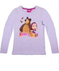 Mascha und der Bär Langarmshirt violett in Größe 104 für Mädchen aus 100% Baumwolle