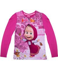 Mascha und der Bär Langarmshirt pink in Größe 104 für Mädchen aus 100 % Baumwolle Fotodruck: 100% Polyester