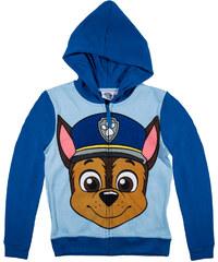Paw Patrol Sweatshirt mit Kapuze blau in Größe 98 für Jungen aus 80% Baumwolle 20% Polyester