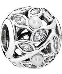 Pandora Drops s pravými perlami a krystalovými listy 791754P