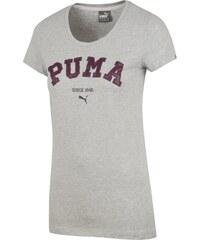 Puma Pohodlné prodyšné tričko šedá S