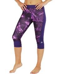 Dámské legíny adidas Tf Capri Print fialová
