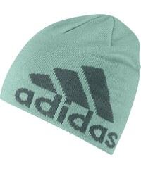 Čepice adidas Knit Logo Beanie modrá