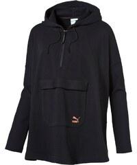 Puma Mikina s kapucí černá XS