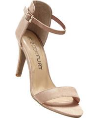 BODYFLIRT Sandalette mit 9 cm High-Heel in beige von bonprix