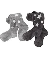 bpc bonprix collection Strumpfhose mit Sternen (2er-Pack) in grau für Mädchen von bonprix