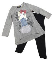 Carodel Dívčí komplet trička a legín - barevný