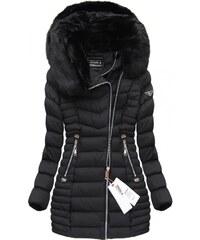 SPEED.A Prošívaná bunda s kapucí černá (W820)