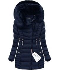 SPEED.A Prošívaná bunda s kapucí modrá (W820)