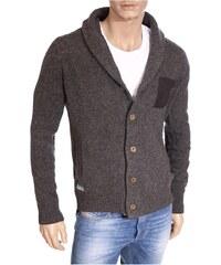 Kaporal Gilet Gilet en laine Lax gris col montant homme
