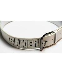 Baker Ceinture Ceinture Leather Die Cut White Synthetique