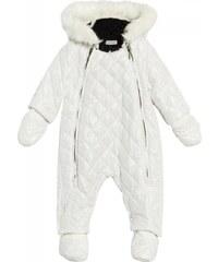 Ikks Combinaisons enfant - Combinaison pilote à capuche intérieur fausse fourrure blanc