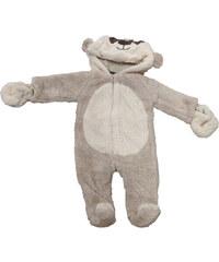Carodel Dětský chlupatý overal s medvídkem - béžový