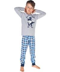 Dětské pyžamo Italian Fashion Alwin Dz. dł. r. dł. sp., šedá