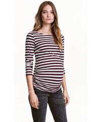 H&M MAMA Vzorované žerzejové triko