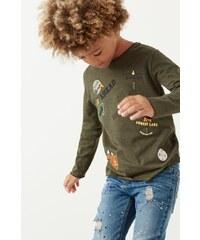 Mango Kids - Dětské tričko s dlouhým rukávem Patch 104-164 cm