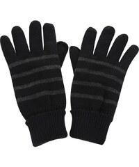 Černé pruhované rukavice Blend