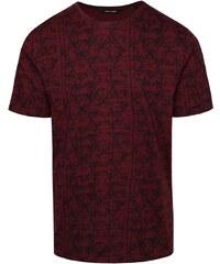 Vínové triko s celopotiskem ONLY & SONS Asvin