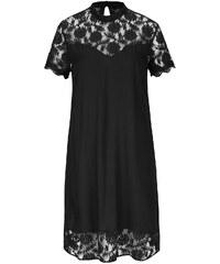 Černé šaty s krajkovanými detaily VILA Tiya